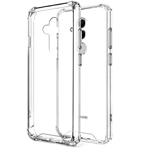 N NEWTOP Cover Compatibile per Huawei Mate 20 Lite, Semi Rigida TPU Hard Clear Anti-Shock Custodia Retro Antiurto Anti Caduta Graffio Trasparente Angoli Rinforzati