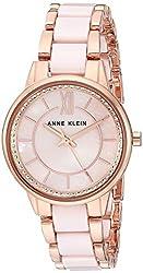 Light Pink/Rose Gold Swarovski Crystal Ceramic Bracelet Watch