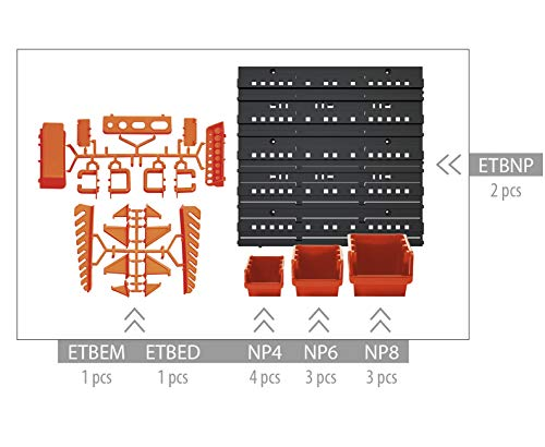 Prosper Plast NTBNP4 Tableau à outils Motif ligne de commande Multicolore 40 x 16,5 x 40 cm