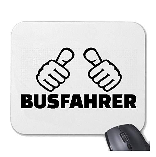 Helene Mousepad Mauspad Busfahrer - BUSFAHRERIN - REISEBUS - FERNBUS - LINIENBUS für ihren Laptop, Notebook oder Internet PC mit Windows Linux in Weiß