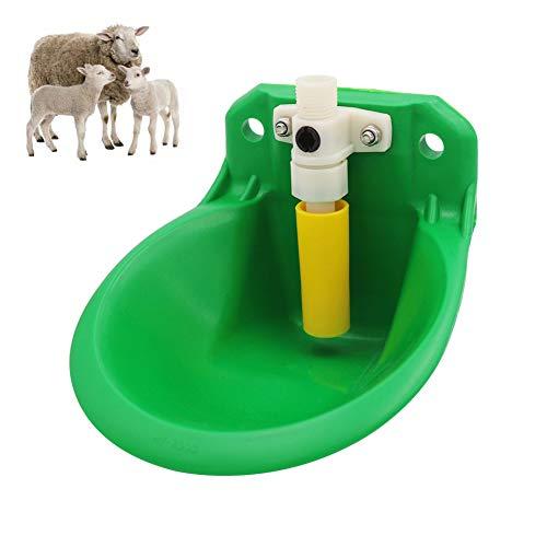 N / A Tazón de Agua automático, dispensador de tazón de Bebedero de Cabra ovino, Fuente de Agua Duradera y Espesa para Ganado, lechones, Ganado, Perros, Caballos pequeños 1/2 C