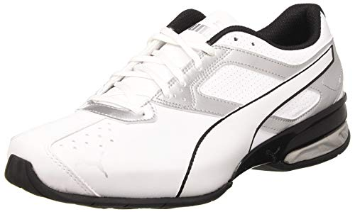 Puma Tazon 6 FM, Herren Cross-Trainer, Weiß (PUMA White-PUMA Silver-PUMA Black), 45 EU (10.5 UK)