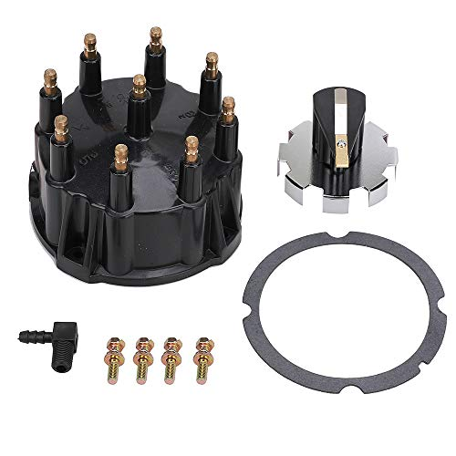 Distributor Cap and Ignition Rotor Kit for 5.0L, 5.7L, 7.4L, 8.2L, 350 V8 Engines with Thunderbolt IV and V HEI Ignitions - Replaces 805759Q3, 805759T3, 805759T1, 18-5395, 18-5273