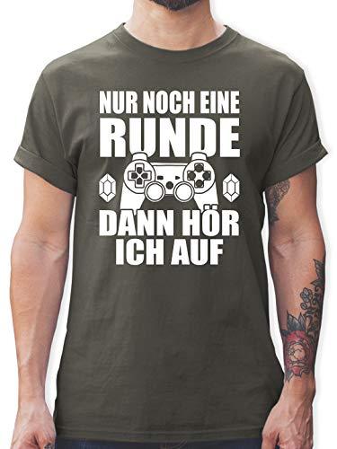 Nerds & Geeks - Nur noch eine Runde - M - Dunkelgrau - Nerd t Shirt - L190 - Tshirt Herren und Männer T-Shirts