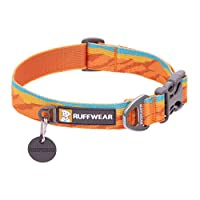 Durable dog collar for everyday use with high-quality design and construction. Suitable for medium sized breeds such as border collies and Samoyeds Tubelok webbing is colorfast and long-wearing, available in a range of nature-inspired colours and pat...