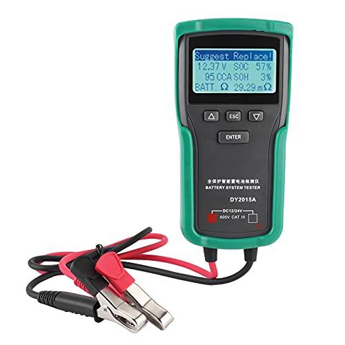 Multímetro, 12V-24V Herramienta de prueba de batería de coche Prueba de carga de voltaje Comprobador de capacidad de batería digital Analizador de carga eléctrica DY2015A
