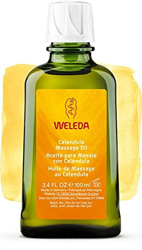 Huile de Massage au Calendula, peaux sensibles - Weleda (100 ml) - Envoi avec : échantillon gratuit et une carte superbonita que vous pouvez utiliser comme marque de livre!