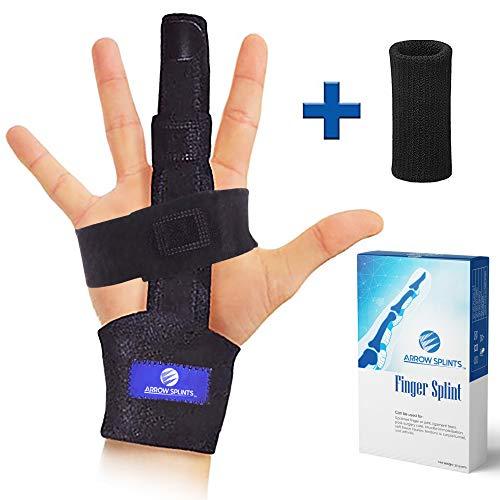 Arrow Splints Trigger Finger Splint | Mallet Finger Brace, Fractured or Broken Finger Straightener, Arthritis & Tendonitis Pain Relief - Immobilization Support for Index, Pinky, Ring, & Middle Finger