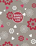 """Bingo Games Log: Game Record Book, Score Keeper, Fouls, Scoring Sheet, Indoor Games recorder Notebook Gifts for Friends, Family, Bingo lovers and ... 8""""x10"""", 120 pages. (Bingo Score Journal)"""