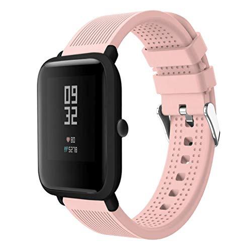 Correas xiaomi huami amazfit bip,Modaworld Accesorios de Reloj Deportivo de Silicona Correa de Reloj Pulsera para Huami Amazfit Bip Watch Reloj Inteligente (Rosado, para Huami Amazfit Bip)
