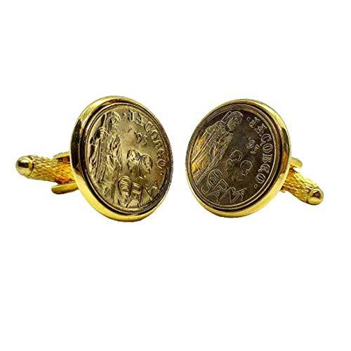 Gemelos para camisa: Genumis Xacobeo - Moneda 5 pesetas 1993 España -