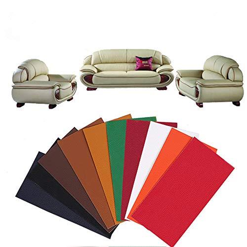 Integrity.1 Kit de Parche de Piel,Parche de Reparacion de Cuero,Autoadhesivo para sofás Asientos de Coche y Bolsos, despegar y Pegar para Asiento de Coche, Muebles, Chaqueta, sofá, Mochila