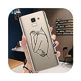 Coque pour Samsung Note 10 Pro Lite J3 J5 J7 2017 J4 J6 Plus 2018 Coque Mode Amant Art Abstrait...