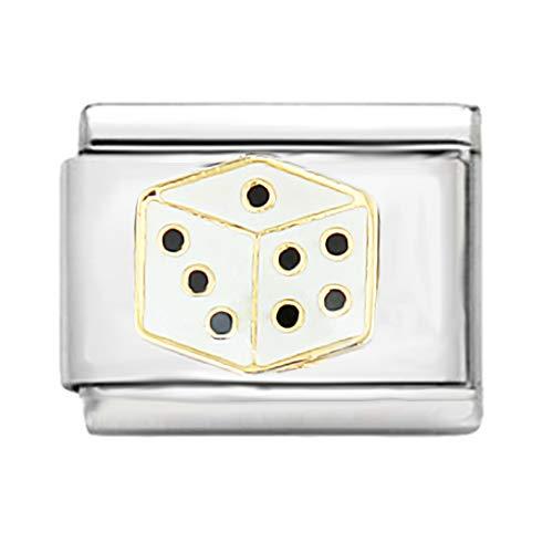AKKi jewelry Italian Charms Armband Classic glieder Italy Charm,Silber Gold Edelstahl Links Kult modele Blume Tiere Herz für Würfel