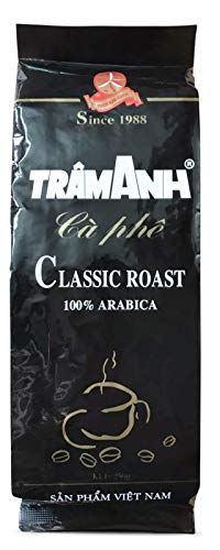 VietBeans - Trâm Anh 100% Arabica – Ganze Kaffeebohnen - Geröstet in französischer Butter und Rum - Intensiv schokoladiger Geschmack - 250g