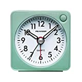 Peakeep Ultra Small, Battery Travel Alarm Clock with Snooze and Light, Silent with No Ticking Analog...