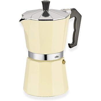 Cilio Classico - Cafetera Italiana (6 Tazas), Color Beige: Amazon ...