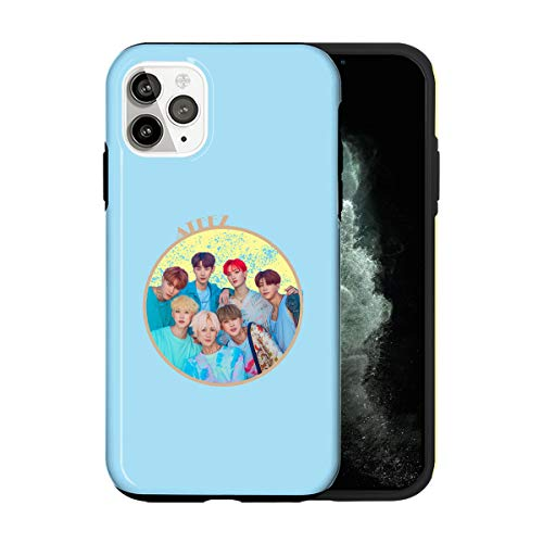 Sconosciuto iPhone 12 Mini Case, Matble Circle ATEEZ POP002_5 Case for iPhone 12 Mini Protective Phone Cover, Rapper Singer Artist [Double-Layer, Hard PC + Silicone, Drop Tested]
