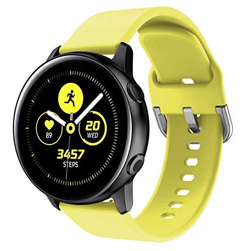 NotoCity Correa para Vivoactive 3, 20mm Repuesto de Correa Reloj de Silicona para Garmin Forerunner 235/245/Amazfip Bip/Huawei Watch 2/Samsung Galaxy Watch 42mm/Gear Sport/Active