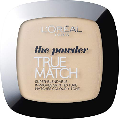 L'Oreal Paris True Match Pressed Powder Foundation, Buildable, Lightweight Matte Finish, 1W Golden Ivory