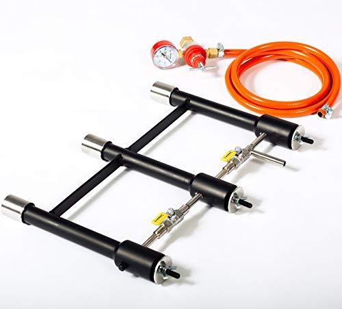 GASBRENNER 3 verbundene DFP Brenner (240,000 BTU) | für Propan Schmieden und Öfen | Schmiede Hufschmiede Messermacher Metallschmiede | mehr Hitze bei weniger Verbrauch