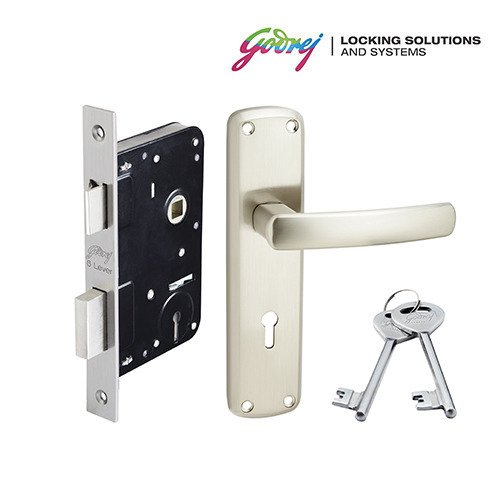 godrej Mortise Lock ELC 05 6-Lever Zinc Alloy Door Handle with Body
