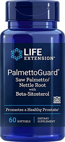 Life Extension PalmettoGuard Saw Palmetto/Nettle Root Formula with Beta-Sitosterol, 60 Softgels
