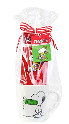 Modern Gourmet Foods, Set Regalo Tazza Snoopy, Include Tazza di Snoopy da Viaggio con Coperchio e mix per Cioccolata calda