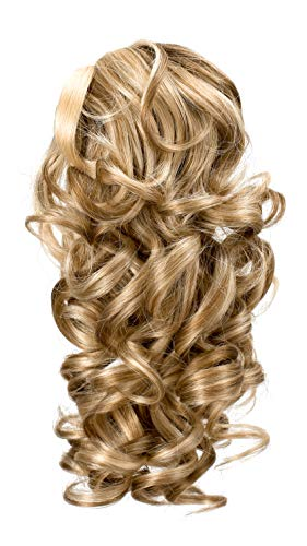 Onedor 12' Synthetic Fiber Natural Textured Curly Ponytail Clip In/On Hair Extension Hairpiece (H16/613)
