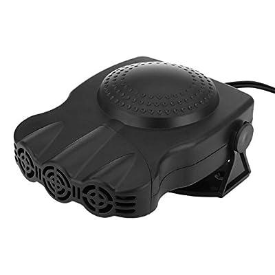 Portable Car Heater,Auto Heater Fan,Car Defogger, Fast Heating Quickly Defrosts Defogger Car Demister 12V 150W Auto Ceramic Heater Fan 3-Outlet Plug in Cig Lighter 711038