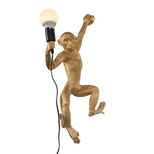 Cim wandlamp, modern, E27, kroonluchter, aap, kunsthars, wandlamp, retro-verlichting, creatieve persoonlijkheid