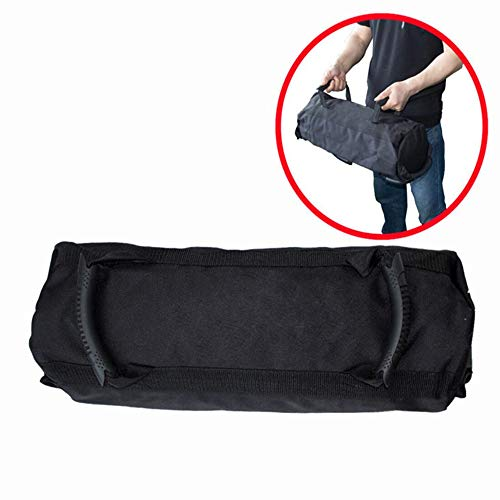 Weightlifting Training Sandbag Kettlebells Include 4pc Yoga Weight-Bearing Bags, Oxford Cloth Adjustable Weight Sandbag with Handles, Weightlifting Dumbbell for Home Training,Fitness,Yoga (Black)