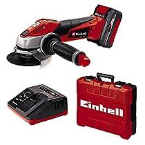Einhell Expert Amoladora TE-AG 18/115 Li Kit Power X-Change, Li-Ion, 18 V, incluida Batería de 3,0 Ah y Cargador Rápido