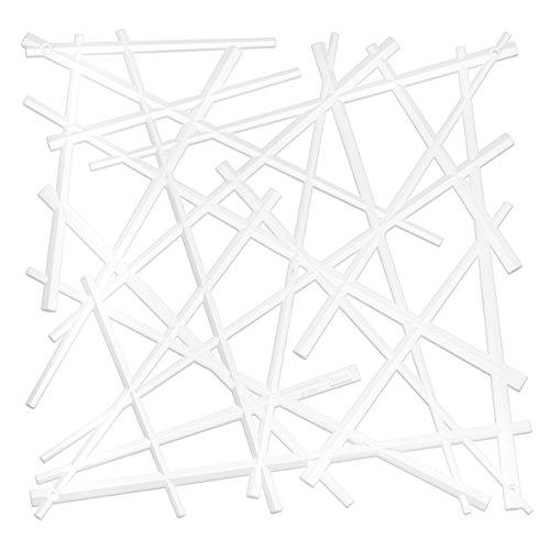 Raumteiler Dekoelement STIXX 4er-Set solid weiß