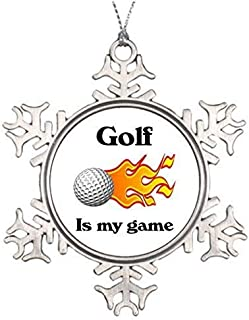 Promini Xmas Ornaments Tree Decor Custom Christmass Golf is My Game House Christmas Decorations Ornament for Holiday Season Decoration