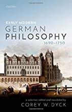 Early Modern German Philosophy (1690-1750)