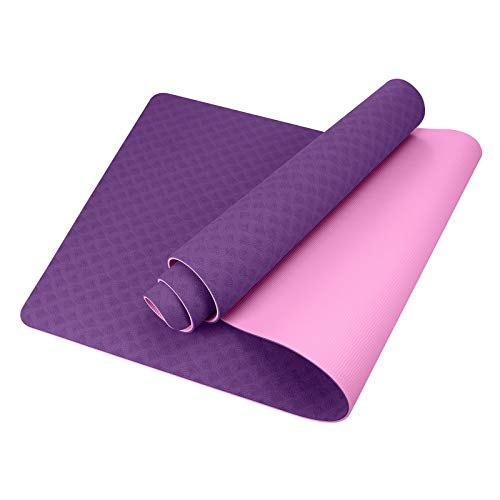 GISALA Tappetino Yoga, Tappetino Fitness Ecologico TPE con Materiali Riciclabili, Yoga Mat Tappetino Palestra Antiscivolo e Antisudore