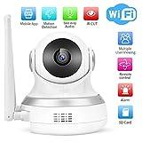 Pangding Cámara de Seguridad, 1080P HD Wireless Smart WiFi Monitor de Almacenamiento en la Nube Cámara de vigilancia para el hogar Cámara(UE)