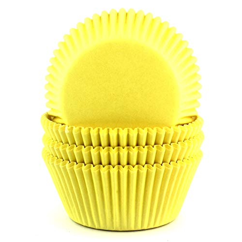 Eoonfirst Standard Size Cupcake Liners 100 Pcs (Light Yellow)