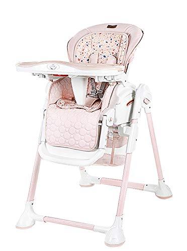 Tendencia de bebé Silla Alta, Snack Silla Alta Sillas de Comedor Plegable Asiento de Viaje al Aire Libre para Dormir para Dormir bebé Mecedora Multifuncional plegabl Pink