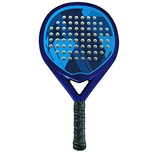 MLPNJ Juego de pádel de Tenis de Raqueta de Playa Profesional de Carbono Cara de EVA Suave Raqueta de pádel de Tenis de 1 Pieza