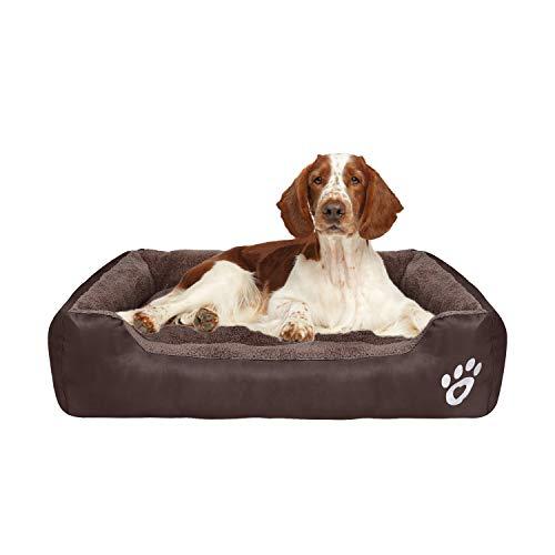 Fristone Hundebett, mittelgroß, waschbar, orthopädisches Hundebett für kleine und große Hunde, Fleecekissen, Decke, XXL