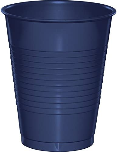 Club Pack Our shop OFFers the best service of 240 Navy Blue Plastic Drinking Party Disposable New popularity Tum