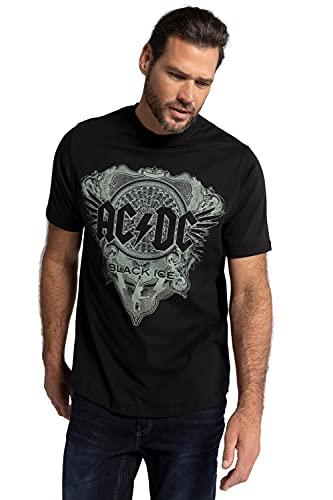 JP 1880 Herren große Größen Übergrößen Menswear L-8XL T-Shirt, Bandshirt, Halbarm, ACDC schwarz 4XL 782647130-4XL