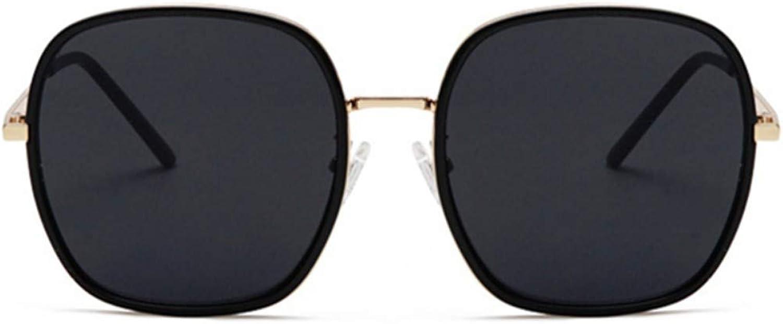 Fuqiuwei Sonnenbrillen Simple And Versatile Retro Big Box Round Face Sunglasses Female Gradient color Big Face Slim Sunglasses