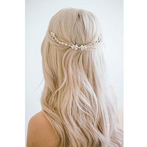 Unicra Accesorios para el cabello para novias, tocados nupciales, peinados, para el...