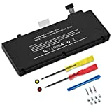 TECHOWL A1322 A1278 Battery for MacBook Pro 13 inch Mid 2009 2010 2011 2012, Replacement Batteries fit for MacBook Pro 5,5 7,1 8,1 9,2, MB990LL/A MB991ll/A MC724LL/A [10.95V 65.7W 6000mAh]