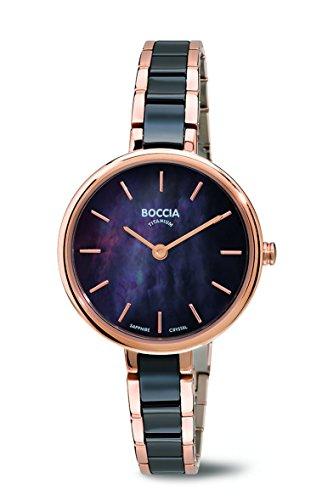 Boccia – Reloj de Cuarzo para Mujer con Madre de Pearl Esf