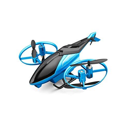 NANE Helicóptero Alejado del Control De La Aeronave Mini Aviones No Tripulados con La Cámara WiFi HD RC Quadcopter RTF 2.4Ghz 6CH Remoto [Mantenimiento De Altitud] para La Formación,Azul