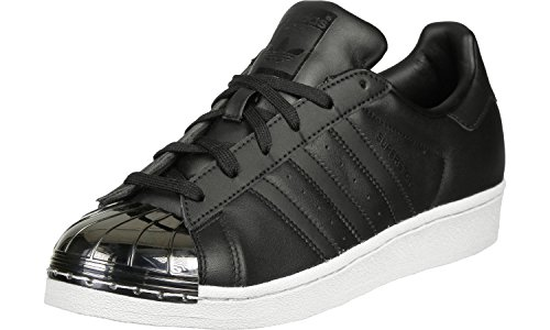 adidas Women Superstar Metal Toe BY2883 Trainers, Black/Gold, 3.5 UK